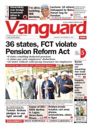 16122019 - 36 states, FCT violate Pension Reform Act