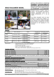SOLO SnowBOX 6020L - Snow+Promotion