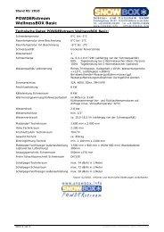 SnowBOX POWDERstream WellnessBOX Basic - Snow+Promotion