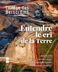 Magazine du Collège des Bernardins / Hiver 2019-2020
