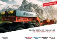 Scheuerle Tiefbettauflieger EuroCompact FL I Schwertransport Tieflader