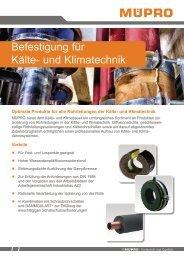 MÜPRO Isolierungen für Kälte- und Klimatechnik AT