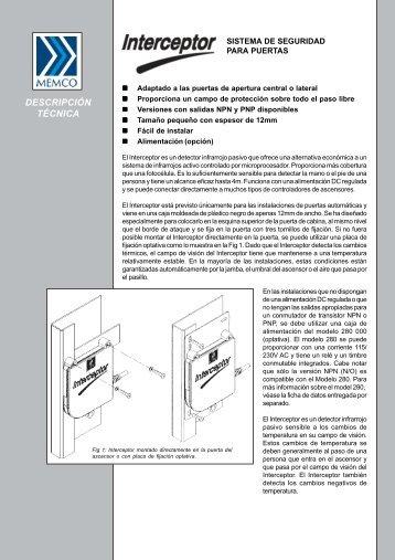 Interceptor Folleto informative del producto - Memco