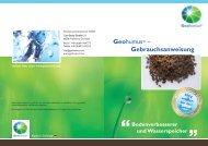 Geohumus® – Gebrauchsanweisung