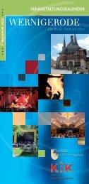 1. Halbjahr 2020 Programmheft KiK & Fürstlicher Marstall Wernigerode
