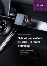 Tiny Audio Cseries Kfz DAB-Katalog Deutsch