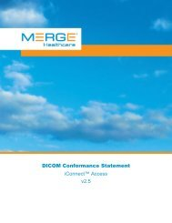 1 Conformance Statement Overview - Merge Healthcare