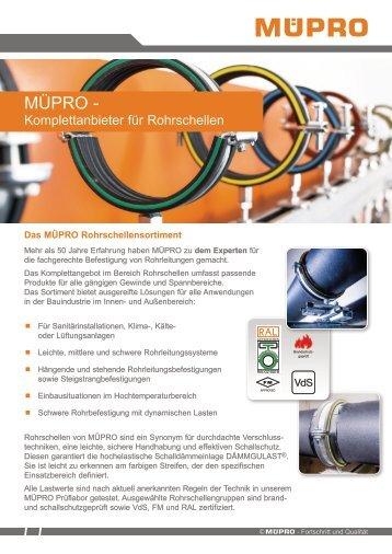 MÜPRO Komplettangebot für Rohrschellen AT
