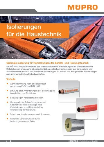 MÜPRO Isolierungen für die Haustechnik DE
