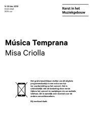 2019 12 20 Música Temprana