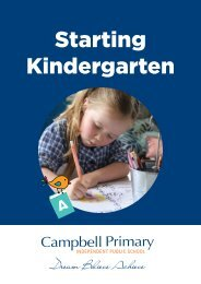 Campbell Primary School Kindergarten Booklet