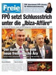 """FPÖ setzt Schlussstrich unter die """"Ibiza-Affäre"""""""