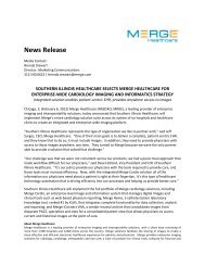 News Release - Merge Healthcare