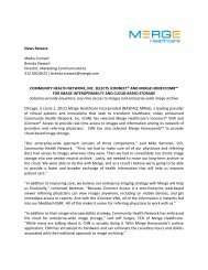 Download this press release - Merge Healthcare