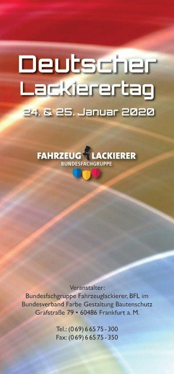 Deutscher-Lackierertag 2020 PROGRAMM