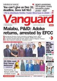 20122019 - Malabu, P&ID: Adoke returns, arrested by EFCC