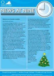 Ninestiles News at Nine December 2019
