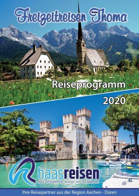 HAAS Reisen - Freizeitreisen Thoma Sommer 2020