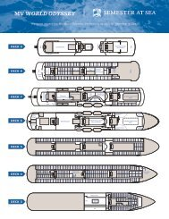 Semester at Sea Deck Plan