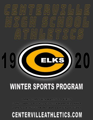 2019-2020 Centerville Athletics Winter Sports Program