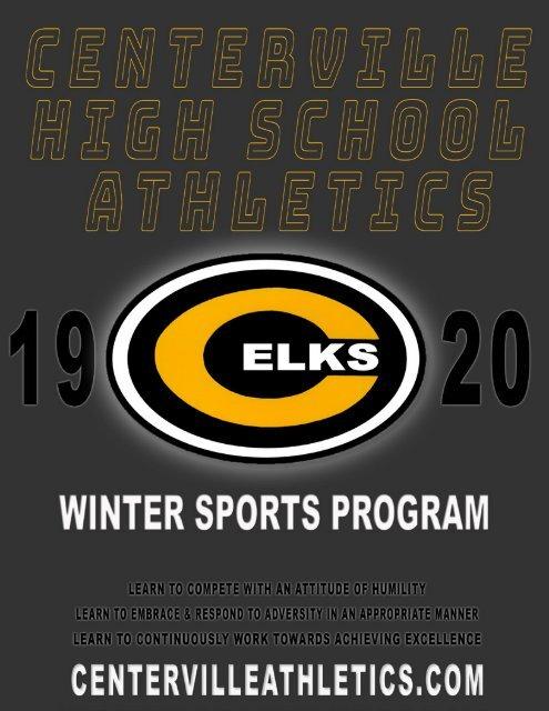 2019-2020 Centerville Athletics Winter Sports Program