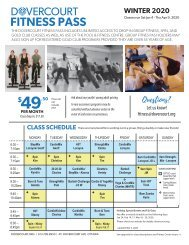 Dovercourt Fitness Pass Winter 2020 - schedule