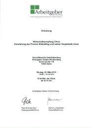 Einladung Wirtschaftsempfang - Unternehmerverband Metall Baden ...