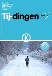 Infoblad Tij-dingen, editie december 2019