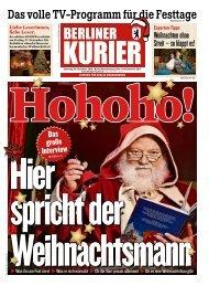 Berliner Kurier 24.12.2019
