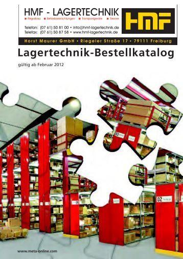 Lagertechnik-Bestellkatalog - META REGALE