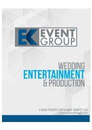EK Event Group Wedding Brochure