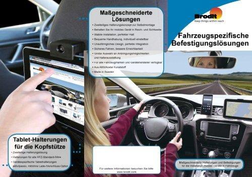 BRODIT Halterungskonzepte für Mobile Endgeräte