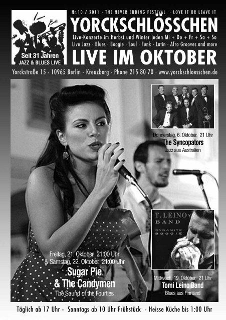 LIVE IM OKTOBER - Yorckschlösschen