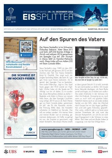 EISSplitter Nr. 3 - Spengler Cup-Tageszeitung vom 28.12.2019
