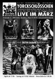 LIVE IM MÄRZ - Yorckschlösschen