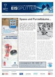 EISSplitter Nr. 4 - Spengler Cup-Tageszeitung vom 29.12.2019