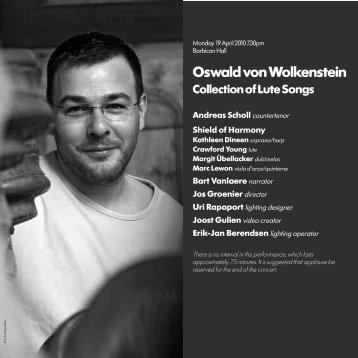 Oswald von Wolkenstein - Barbican
