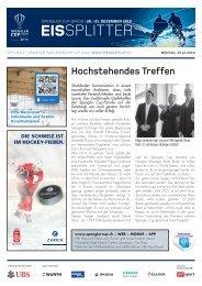 EISSplitter Nr. 5 - Spengler Cup Tageszeitung vom 30.12.2019