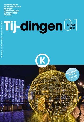 Infoblad Tij-dingen, editie januari 2020