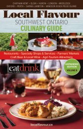 Local Flavour Southwest Ontario Culinary Guide