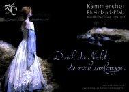 Durch die Nacht die mich umfangen | Kammerchor Rheinland-Pfalz | Projekt 25