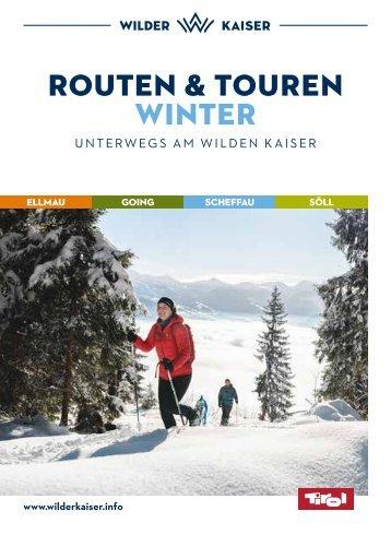 Routen und Touren Winter