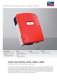 Sunny Mini Central 4600A / 5000A / 6000A - energy-team.at ...