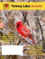Parkway Lakes January 2020