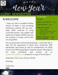 Winter 2019 Client Newsletter
