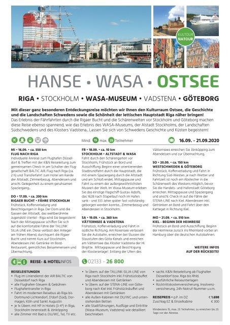 K&N-Reise HANSE • WASA • OSTSEE