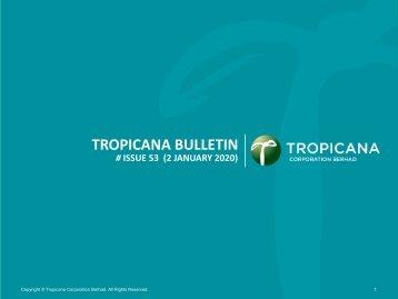 Tropicana Bulletin Issue 53, 2020
