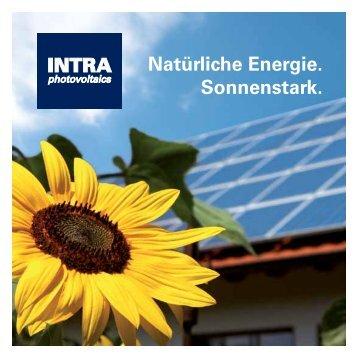 INTRA Natürliche Energie. - INTRA photovoltaics