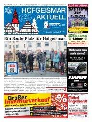 Hofgeismar Aktuell 2019 KW 52