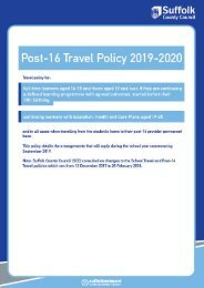 Post-16 Travel Policy 2019-2020